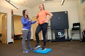 Balancing Activity in ChildServe's Concussion Clinic