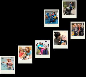 Polaroid pictures of children